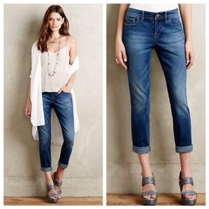 Anthro Pilco Rolled Hem Stet Ankle Jeans Mid Rise